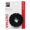 Sticky-Back Hook and Loop Dot Fasteners, 5/8 Inch, Black, 75/Pack