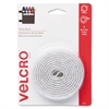 Velcro Sticky-Back Hook and Loop Fastener Tape with Dispenser, 3/4 x 5 ft. Roll, White