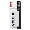 Velcro Industrial Strength Sticky-Back Hook and Loop Fastener Strips, 4 x 2, White