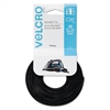 Velcro Reusable Self-Gripping Cable Ties, 1/4 x 8 inches, Black, 25 Ties/Pack