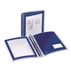 "Flexi-View Binder w/Round Rings, 11 x 8 1/2, 1 1/2"" Cap, Navy Blue"