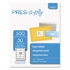 PRES-a-ply Laser Shipping Labels, 2 x 4 1/4, Clear, 500/Box