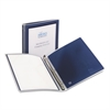 "Flexi-View Binder w/Round Rings, 11 x 8 1/2, 1/2"" Cap, Navy Blue"