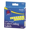 "Avery Permanent Self-Adhesive Round Color-Coding Labels, 1/4"" dia, Yellow, 450/Pack"