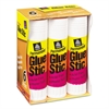 Permanent Glue Stics, White Application, 1.27 oz, 6/Pack