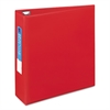 "Avery Heavy-Duty Binder with One Touch EZD Rings, 11 x 8 1/2, 3"" Capacity, Red"