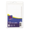 Removable Multi-Use Labels, Handwrite Only, 5/8 x 7/8, White, 1050/Pack