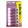 Permanent Glue Stics, Purple Application, .26 oz, 6/Pack