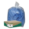 Clear Recycled Can Liners, 40-45gal, 1.5mil, Clear, 100/Carton