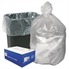High Density Can Liners, 16gal, 8 Microns, 24 x 33, Natural, 1000/Carton