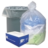 High Density Can Liners, 30gal, 10 Microns, 30 x 37, Natural, 500/Carton