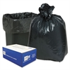 2-Ply Low-Density Can Liners, 7-10gal, .6mil, 24 x 23, Black, 500/Carton