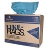 Cascades Like-Rags Spunlace Towels, Blue, 9 3/4 x 16 3/4, 125/Box, 6 Box/Carton