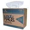 Cascades Like-Rags Spunlace Towels, White, 9 3/4 x 16 3/4, 150/Box, 6 Box/Carton