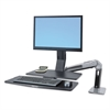 WorkFit-A Sit-Stand Workstation w/Worksurface+, LCD LD Monitor, Aluminum/Black