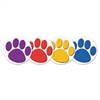 "Teacher Created Resources Wear 'Em Badges, Paw Prints, 2 3/8"" Dia., 32/Pack"