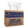 Cascades Tuff-Job Scrim Reinforced Wipers, 9 3/4 x 16 3/4, White, 150/Box, 6 Box/Carton