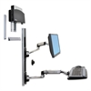 Ergotron LX Wall Mount System for Small CPU, Polished Aluminum/Black