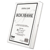 NuDell Un-Frame Box Photo Frame, Plastic, 8-1/2 x 11, Clear