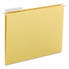 Color Hanging Folders with 1/3-Cut Tabs, 11 Pt. Stock, Yellow, 25/BX