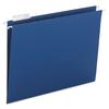 Hanging File Folders, 1/5 Tab, 11 Point Stock, Letter, Navy, 25/Box