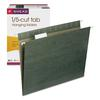 Smead Hanging Folders, 1/5 Tab, 11 Point Stock, Letter, Green, 25/Box