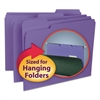 Smead Interior File Folders, 1/3 Cut Top Tab, Letter, Purple, 100/Box