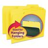 Interior File Folders, 1/3 Cut Top Tab, Letter, Yellow, 100/Box