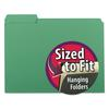 Smead Interior File Folders, 1/3 Cut Top Tab, Letter, Green, 100/Box