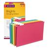 Hanging File Folders, 1/5 Tab, 11 Point Stock, Legal, Assorted Colors, 25/Box