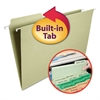 FasTab Hanging File Folders, 1/3 Tab, Legal, Moss Green, 20/Box