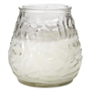 "FancyHeat Victorian Filled Glass Candles, 60 Hour Burn, 3 3/4""h, Clear, 12/Carton"