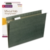 Hanging File Folders, 1/5 Tab, 11 Point Stock, Legal, Green, 25/Box