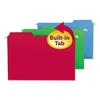 Smead FasTab Hanging Folders, Legal, Assorted, 18/Box