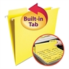 Smead FasTab Hanging File Folders, Letter, Yellow, 20/Box
