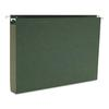 One Inch Capacity Box Bottom Hanging File Folders, Legal, Green, 25/Box