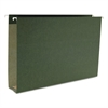 Two Inch Capacity Box Bottom Hanging File Folders, Legal, Green, 25/Box