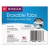 Smead Erasable Hanging Folder Tabs, 1/3 Tab, 3 1/2 Inch, White, 25/PK