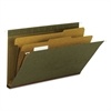"Hanging File Folder, 2 Dividers, Legal, 2"" Exp, 1/5 Tab, Standard Green, 10/BX"