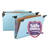Four Section Hanging Classification Folder, Pressboard/Kraft, Legal, Blue