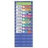 Scholastic Daily Schedule Pocket Chart, 13 x 33, Blue/Clear