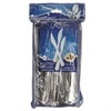 "WNA Reflections Heavyweight Plastic Utensils, Knife, Silver, 7 1/2"", 40/Pack"