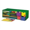 Classroom Keepers Crafts Keeper Organizer, Green, 14 Sections, 9 3/8x30x12 1/2