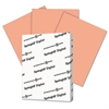 Digital Index Color Card Stock, 110 lb, 8 1/2 x 11, Salmon, 250 Sheets/Pack