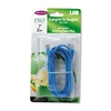 CAT5e Snagless Patch Cable, RJ45 Connectors, 7 ft., Blue