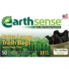Large Trash Bags, 33gal, .75mil, 32.5 x 40, Black, 50 Bags/Box