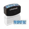 Message Stamp, for DEPOSIT ONLY, Pre-Inked One-Color, Blue