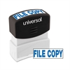 Universal Message Stamp, FILE COPY, Pre-Inked One-Color, Blue