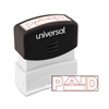 Universal Message Stamp, PAID, Pre-Inked One-Color, Red