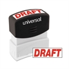 Universal Message Stamp, DRAFT, Pre-Inked One-Color, Red